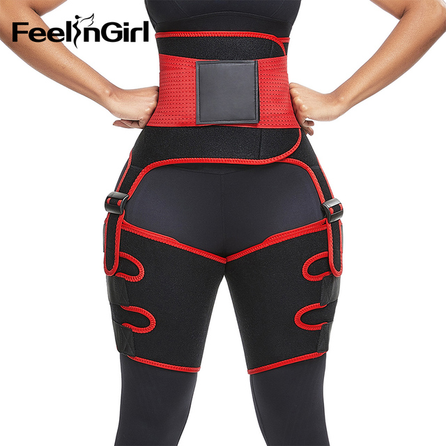 FeelinGirl Neoprene Thigh Trimmer Leg Shapers Slimming Belt Sweat Waist Trainer Weight Loss Workout Corset Thigh Slimmer Strap