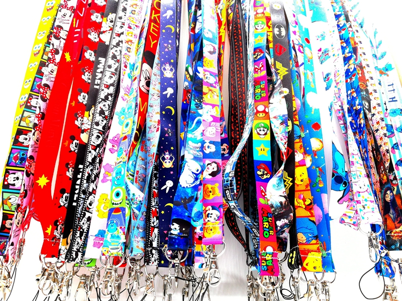 New 1 Pcs Cartoon  Lanyard  Neck Strap Lanyards Card Holders Bank Neck Strap Card Bus ID Holders Rope Key Chains