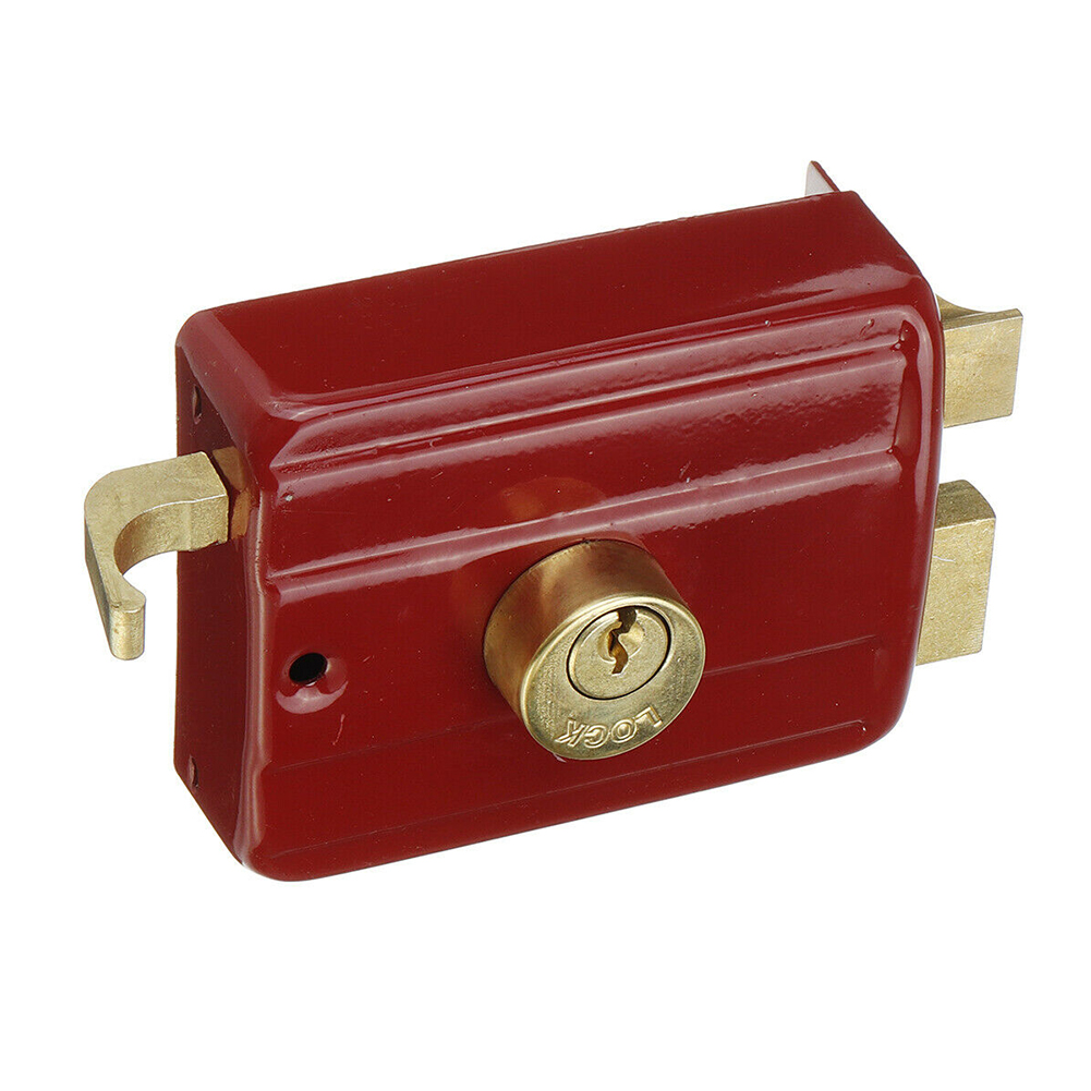 Strong Universal Accessory Red Door Lock Home Security Indoor Professional Bedroom Smooth Heavy Duty Easy Install Anti Theft