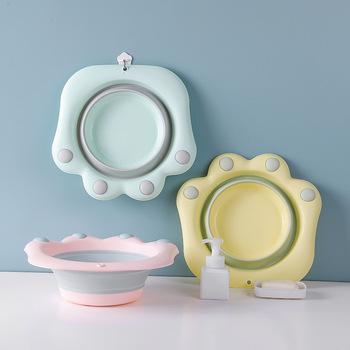 Składana umywalka z tworzywa sztucznego przenośna umywalka do prania wanna do mycia stóp umywalka do mycia kreskówka umywalka do mycia stóp tanie i dobre opinie 38 cm Ekologiczne Zaopatrzony Nieprzezroczyste