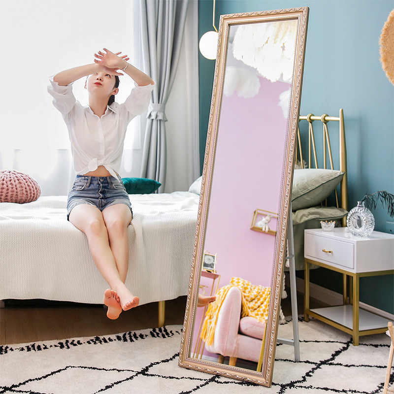 Wholesale Dressing Mirror Full Length Mirror Household Bedroom Dressing Mirror Dormitory Students Slimming Stereoscope Girly Sty Aliexpress