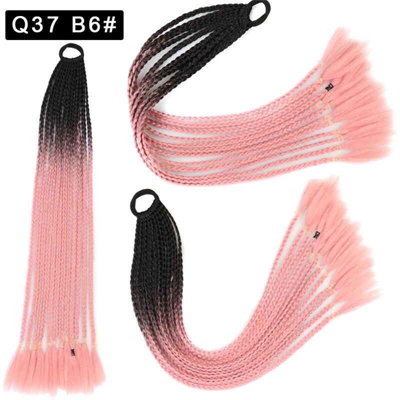 Maelove peruk at kuyruğu saç halatlar çocuklar büküm örgü halat Headdress saç Braider elastik saç bandı lastik bant saç aksesuarları peruk