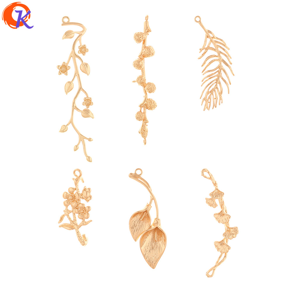 Cordial Design 50Pcs Jewelry Accessories/Earrings Connectors/Plant Shape/Copper Material/DIY Making/Hand Made/Earring Findings