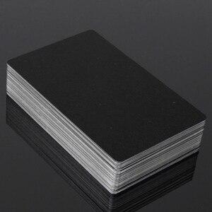 Image 5 - Carte en alliage daluminium noir et argent, carte en métal gravée au Laser, carte de visite daffaires vierges 100mm dépaisseur 0.22x3.4 pouces