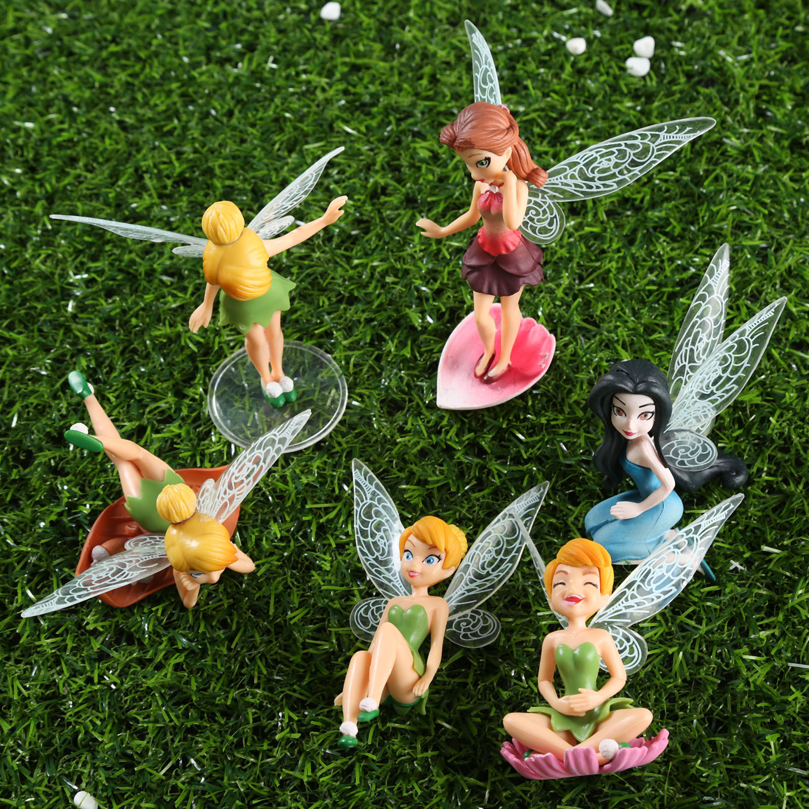 Random Beautiful Fairy Kawaii Gifts Angel Garden Decoration Resin Crafts Home Decor Miniature Fairy Garden Figurines Flower