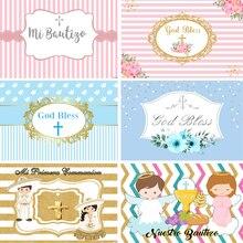 13 opcji Baby chrzest fotografia Backdrops komunia święta krzyż chłopcy dziewczęta fotografia tło do zdjęć Studio niestandardowe