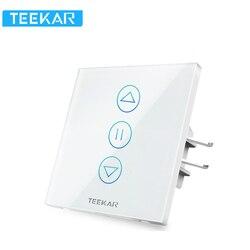 Teekar 4-го поколения WiFi умный занавес переключатель ЕС стандарт Fr Электрический моторизованный занавес слепой рольставни Alexa Google Home