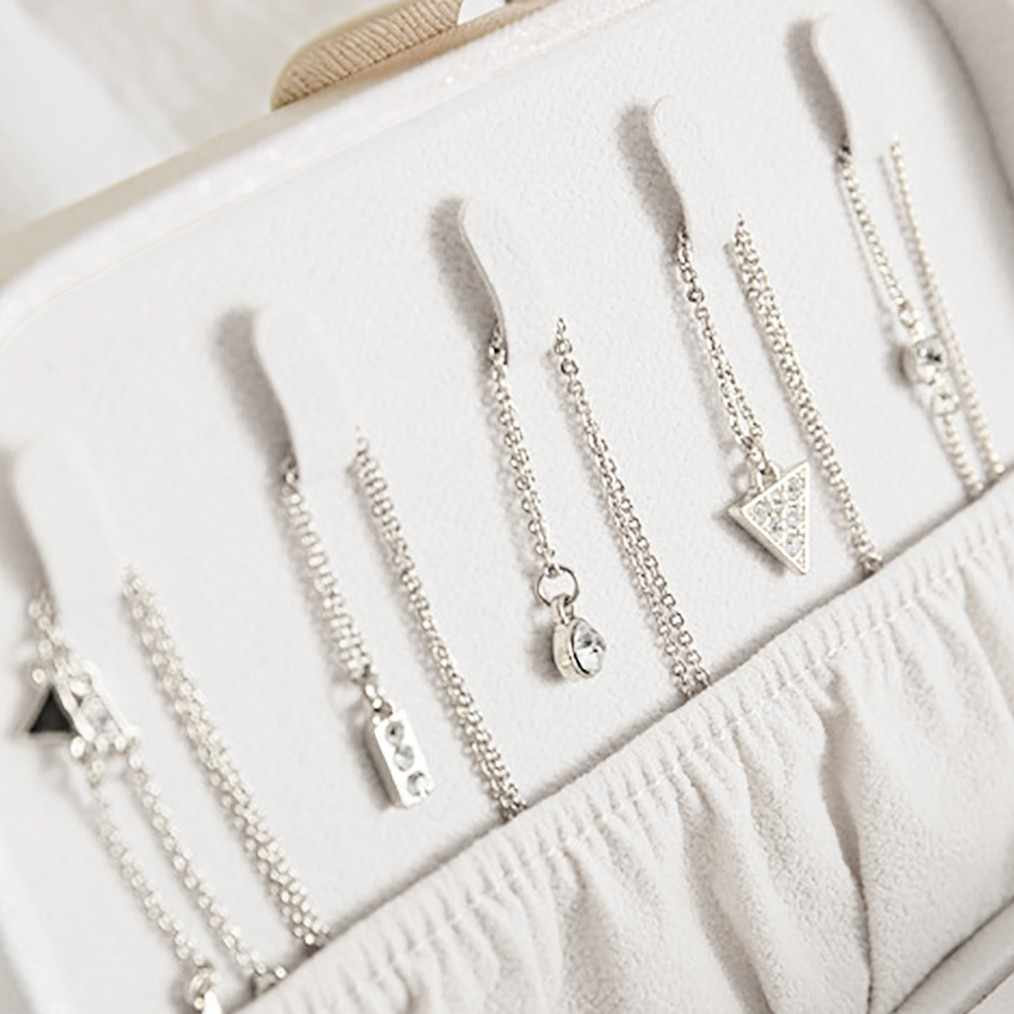 Portable Jewelry Watch Storage Box Earring Ear Stud Ring Necklace Holder Organizers Case Wedding Ring Box Jewelry Display