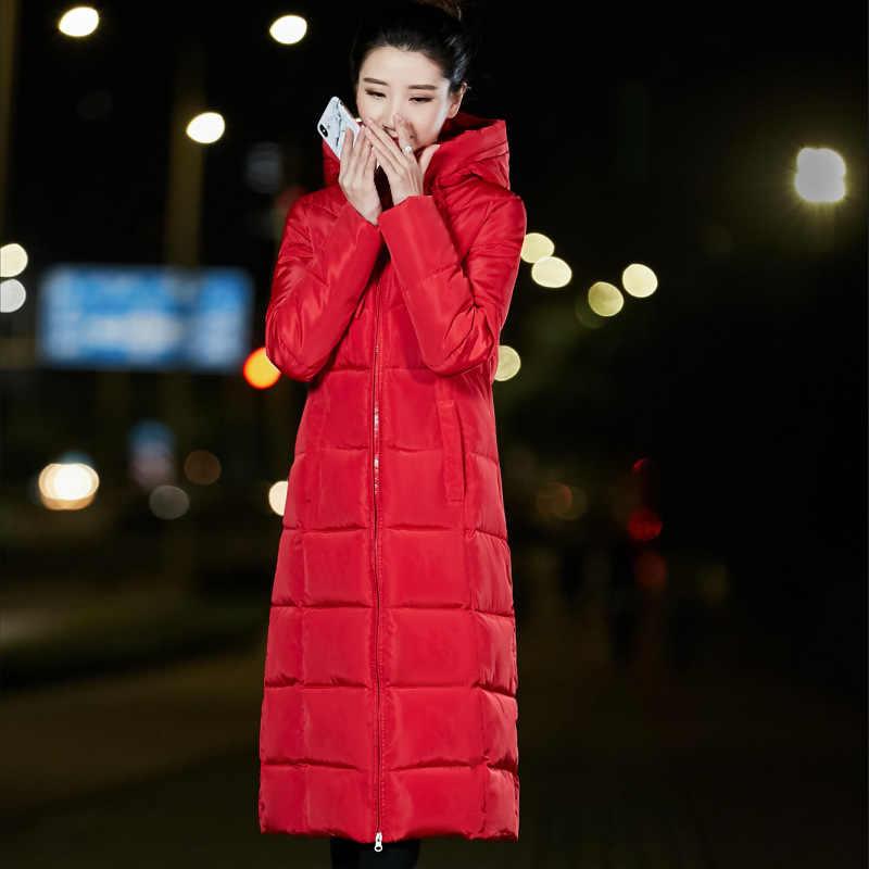 X-long hiver veste femmes manteau 2019 coton rembourré veste longue à capuche épaissir femme Parkas grande taille 6XL Parka chaqueta mujer