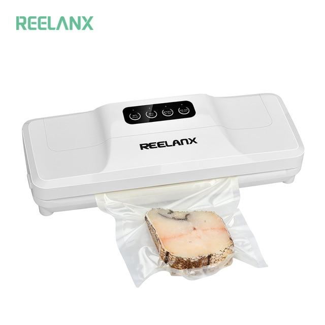 REELANX 진공 실러 V1 140W 자동 진공 포장 기계 15pcs 가방 음식에 대 한 최고의 진공 포장기 씰링 포장
