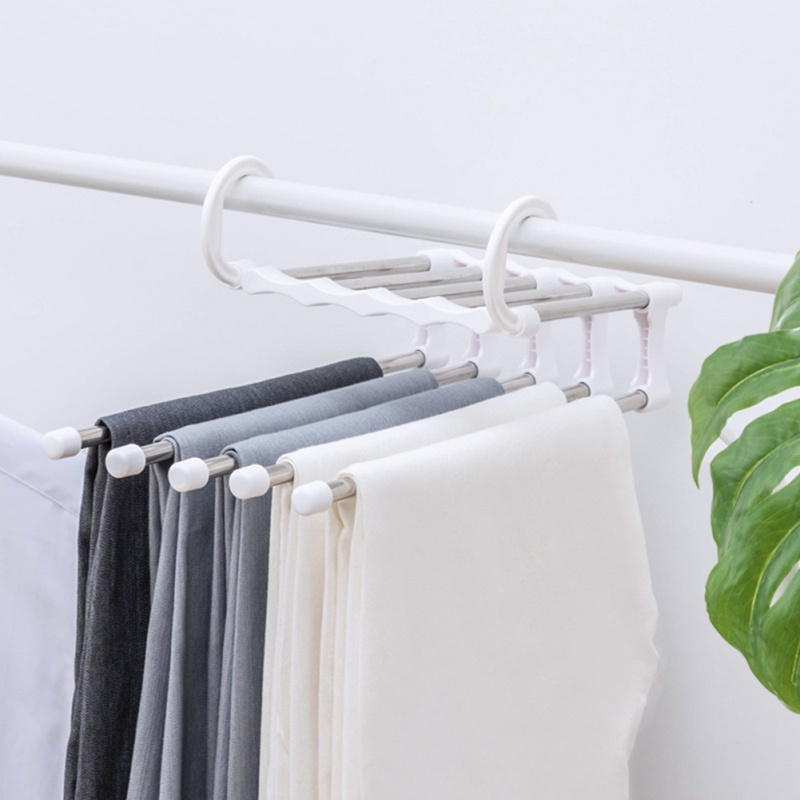 Closet Organizer Trouser Pants Ties Scarf Shawl Rack Hangers For Clothes Drying Rack Home Bathroom Accessories Clothing Rack|Drying Racks| |  - title=