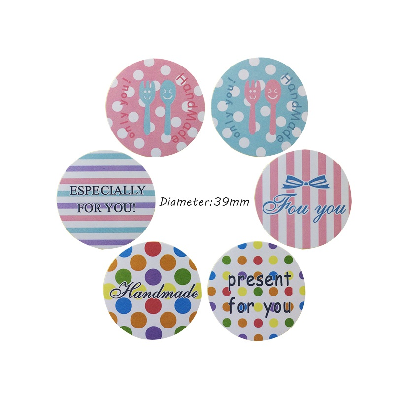 90 Pcs lot 39 FOR YOU 39 Vintage Colorful Round Handmade present for you Seal Sticker DIY Note Gift Packaging Labels in Stationery Stickers from Office amp School Supplies