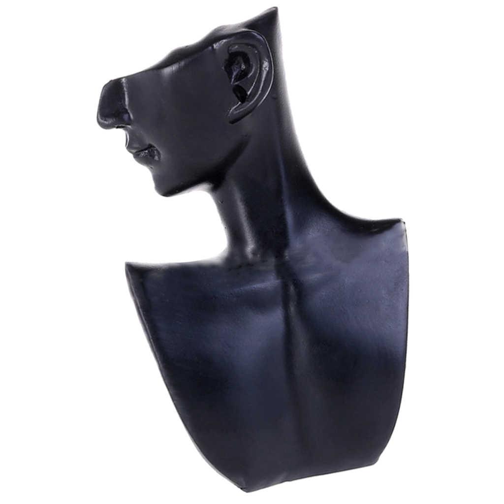 Ekspozytor na kolczyki żywica żeński manekin głowa biust stojak Model sklep biżuteria naszyjnik wyświetlacz pojemnik ekspozycyjny