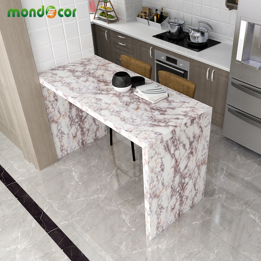 Modern Marble Texture Wallpaper Living Room Bathroom Self-Adhesive Waterproof Cupboard Wardrobe Sticker Contact Paper Home Decor