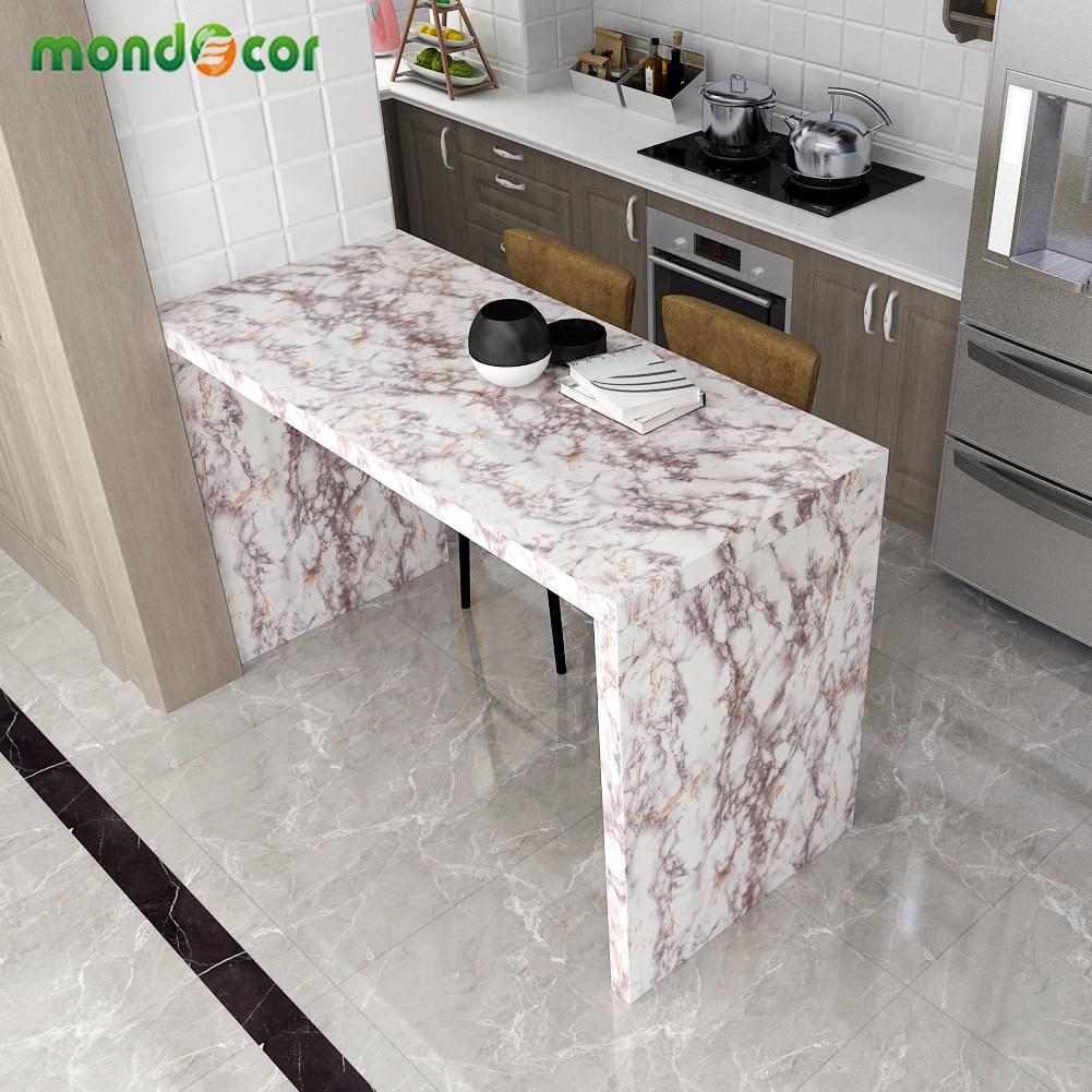 Modern Marble Texture Wallpaper Living Room Bathroom Self-Adhesive Waterproof Cupboard Wardrobe Sticker Contact Paper Home Decor