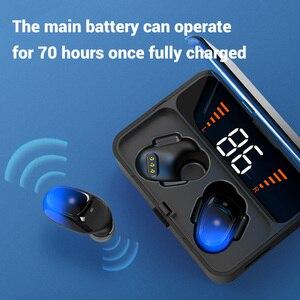 Image 2 - TOPK F13/ES01 TWS 5.0 Bluetooth kulaklık V5.0 taşınabilir Stereo kablosuz dokunmatik kulaklık spor bas kulaklık LED güç ekran