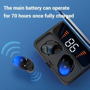 Image 2 - Topk F13/ES01 tws 5.0 bluetooth イヤホン V5.0 ポータブルステレオワイヤレスタッチインナーイヤー型スポーツ低音ヘッドセット led 電源ディスプレイ