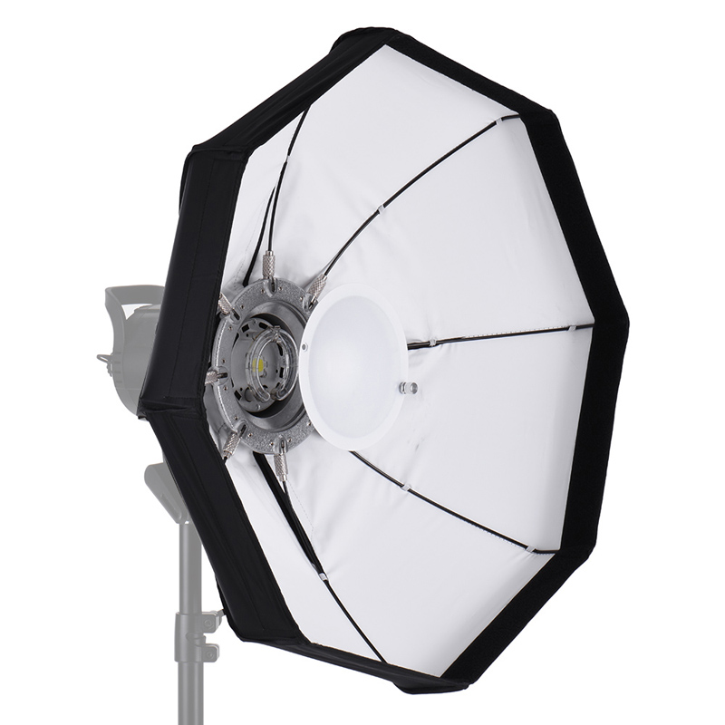 Andoer 8-Pole 60cm Professional White Foldable Beauty Dish Softbox High Quality With Bowens Mount For Studio Strobe Flash Light