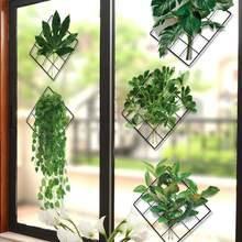 Folhas verdes impressão da arte planta decorativo espelhos de parede adesivos fotos poster mural casa sala estar decoração moderna