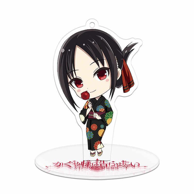 Anime Kaguya-Sama: cinta Adalah Perang Shinomiya Kaguya Fujiwara Chika Cosplay Berdiri Gambar Akrilik Tas Liontin Gantungan Kunci Dekorasi Mainan