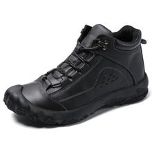 Men Shoes Fashion High Quality Casual Mens Leather Autumn Paris Cowboy Leisure Footwear Man Boots %109-2