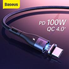 Baseus — Câble magnétique USB micro et type C 100W PD, charge rapide, compatible avec Rdmi Note 9S Huawei P40 et MacBook Pro