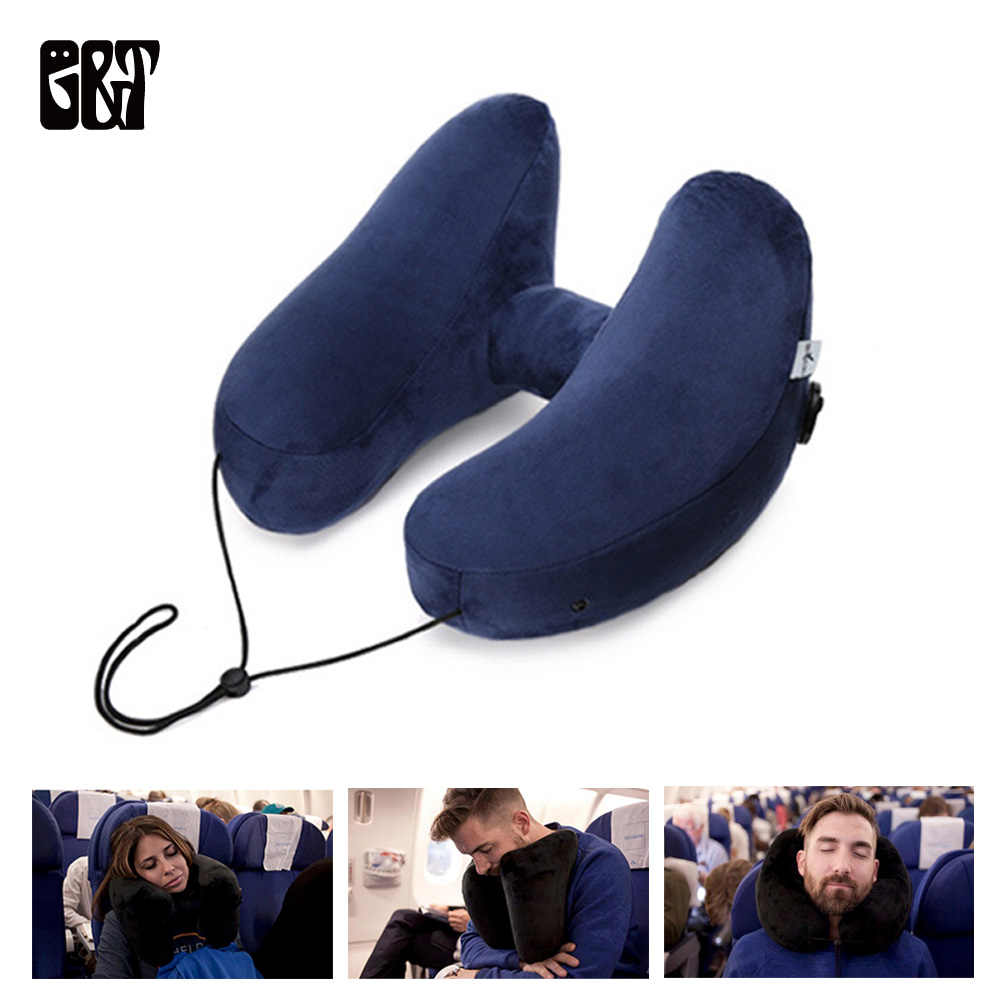 Inflatable Travel Pillow Air Cushion Foldable Light Super Super Neck Support Nap Neck Pillow Car Seat Office Airplane Travel