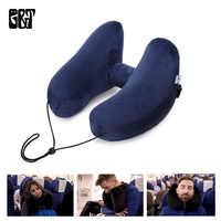 Надувная подушка для путешествий, воздушная подушка, складной светильник, супер поддержка шеи, подушка для шеи, автомобильное сиденье, офис...