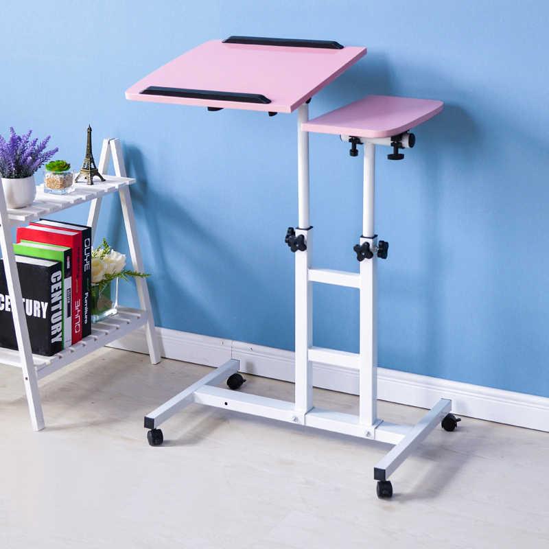 Регулируемые столы для ноутбуков, прикроватный столик, передвижные столы для учебы, портативные подъемные стоячие столы