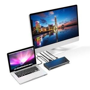 Image 2 - Thunderbolt 3 4K Display Docking Station USB C 4K DisplayPort Power Delivery Gigabit Ethernet for MacBook Pro [Intel Certified ]
