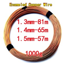 1.3/1.4/1.5/ 1000g/ roll Copper Wire Enameled Copper Wire Magnetic Coil Motor Coil Transformer Inductor Wire Repair Winding DIY