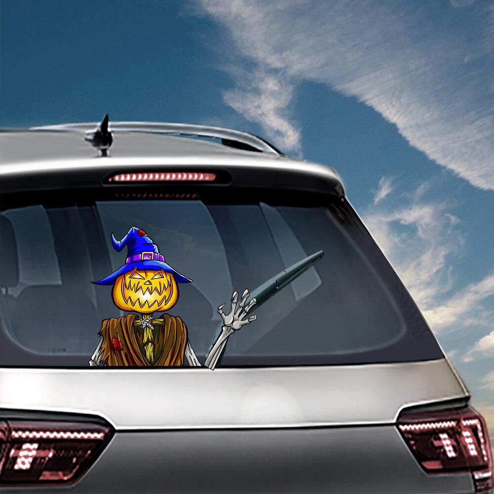 Horror Car Stickers Rear Windshield Decals Halloween Decoration Waving Wiper Styling Window