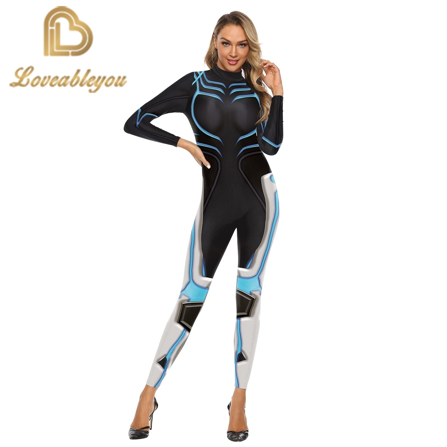 Hot Sale 2019 New Fashion Gaming Cosplay Costume 3D Printed Bodysuit for Women Party Cospaly Bodysuit Sexy Jumpsuits 1