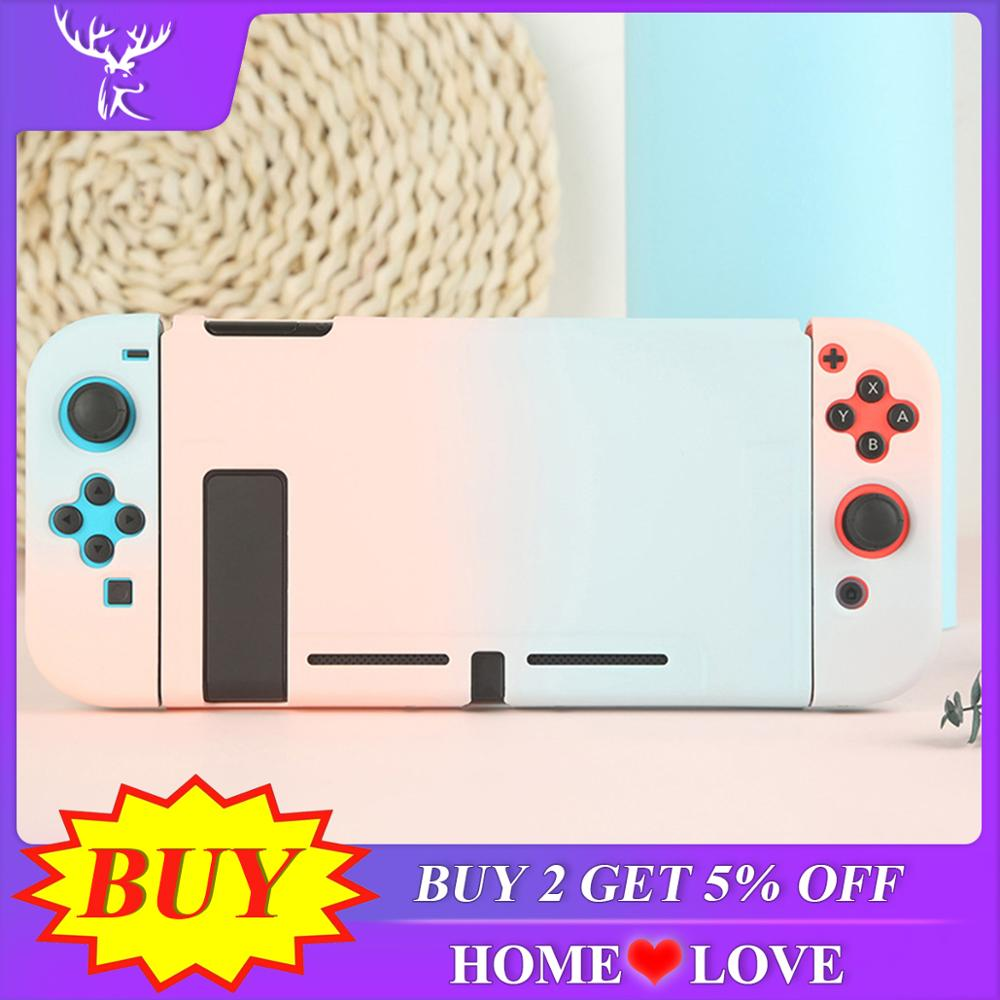 Protective Case Joy Con Controller Shell Hard Housing Full Cover Shell For Nintend Switch Game Console Colorful Shell(China)