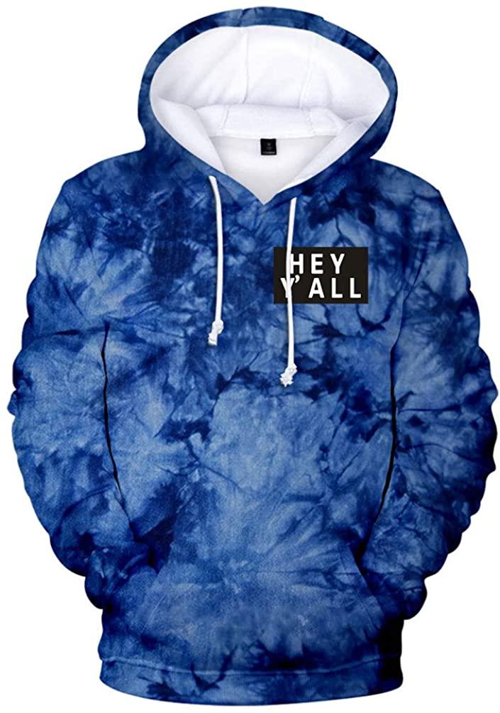2020 Addison Rae: Hey Y'all Tie Dye 3D Hoodie Men/Women Casual Fashion Long Sleeve Hoodies Sweatshirts Tops Outwear Tracksuit 10