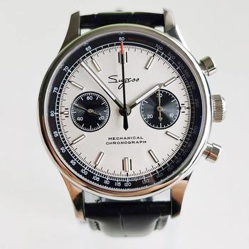 Sugess 1963 Chronograph Mechanical Seagull Movement st1901 Swan neck Watch Men Sapphire 40mm Metal bracelet Watches Mens 2020 16