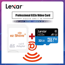 ezshare Wireless wifi adapter+Lexar Micro SD Card 128GB 32GB Class 10 633x 64GB wifi wireless TF Card 16gb Flash Memory Card