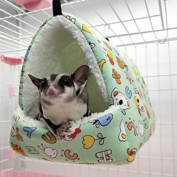 Pets Hammock Cotton Hamster Mouse Hanging Cat Bed Pet Squirrel Hamster Plush Warm Hammock Hanging Bed Winter Tent Sleeping Nest image