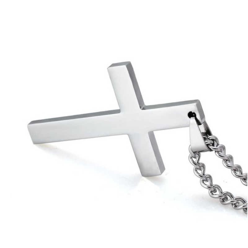 Cơ Đốc Giáo Chúa Giêsu Đơn Chuyền Titan Vòng Cổ Mặt Dây Chuyền Nữ Thép Không Gỉ Bạc Vàng Đen Cầu Nguyện Choker Nam Trang Sức