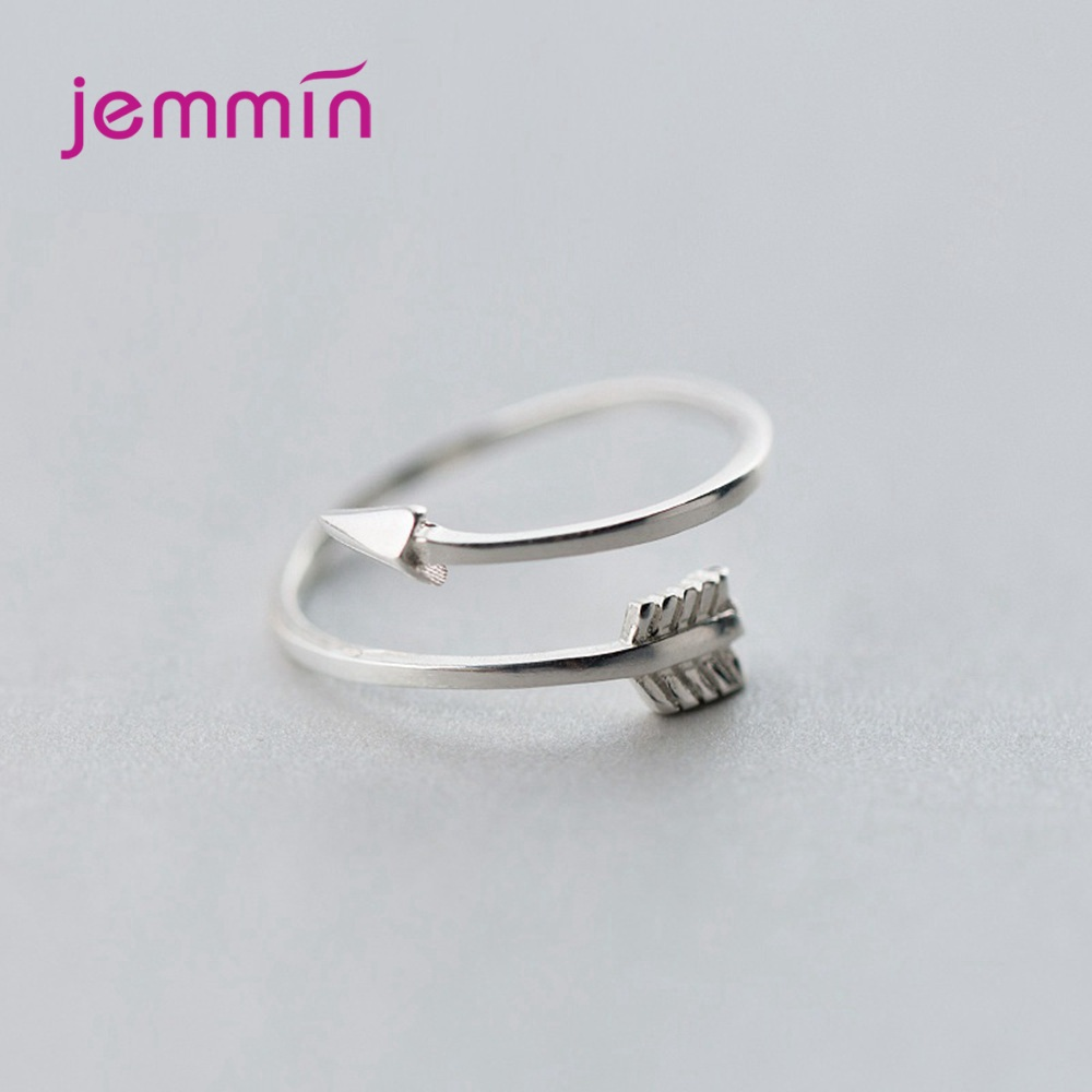 Free Shipping 925 Sterling Silver Rings Latest Fashion Design Arrow Shape Open Finger Rings Wholesale/Retail/Drop Shipping