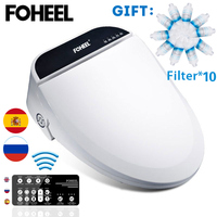 FOHEEL kids baby smart toilet seat cover electronic bidet cover clean dry seat heating wc intelligent toilet seat cover