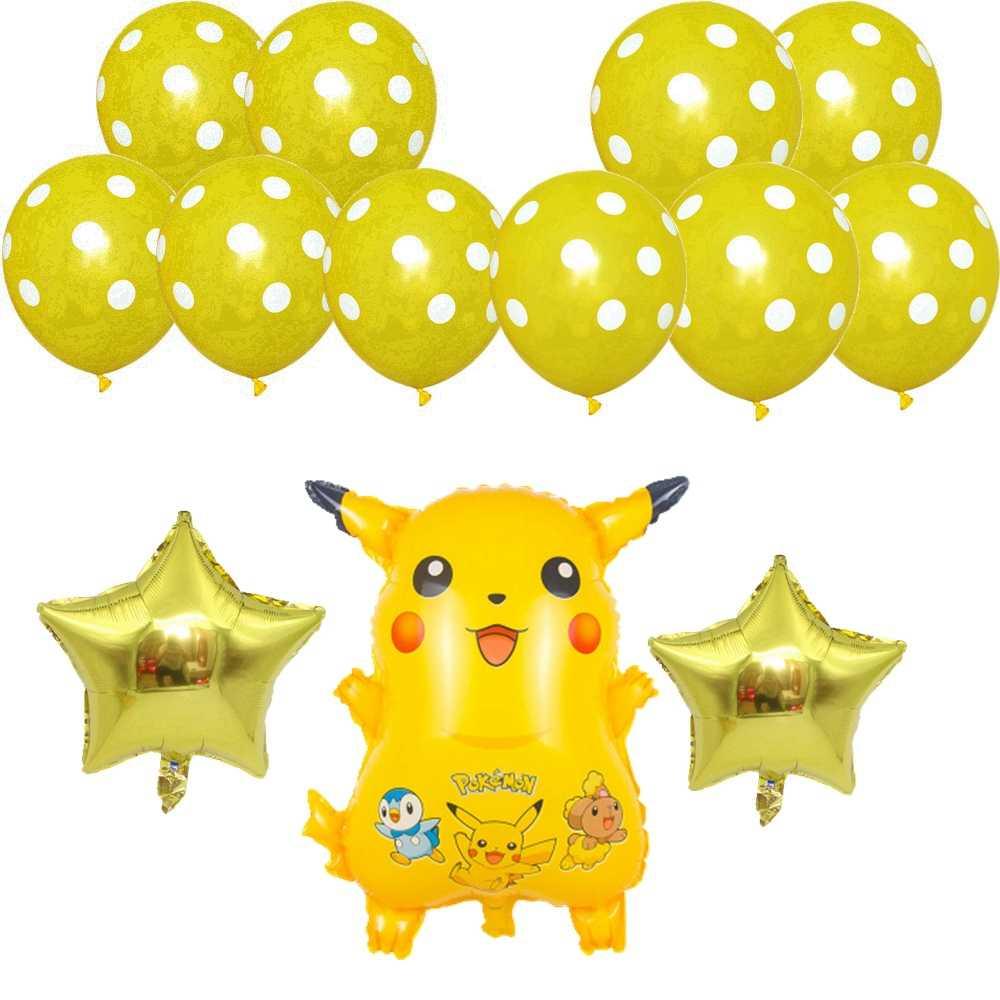 13 포케몬 알루미늄 풍선 피카추 화재 드래곤 제니 거북이 생일 파티 장식 어린이 만화 풍선 장난감 베이비 샤워