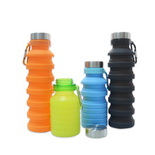 550ML Collapsible Silicone Water Bottle Travel Outdoor Sport Retractable Folding Lead Proof Portable Drinking Bottles
