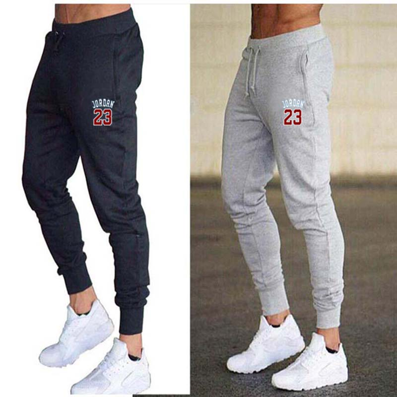 2020 Jogging Pants Men Solid GYM Training Pants 23 Sportswear Mens Sport Pants Men Running Swearing Pants Jogging Sweatpants