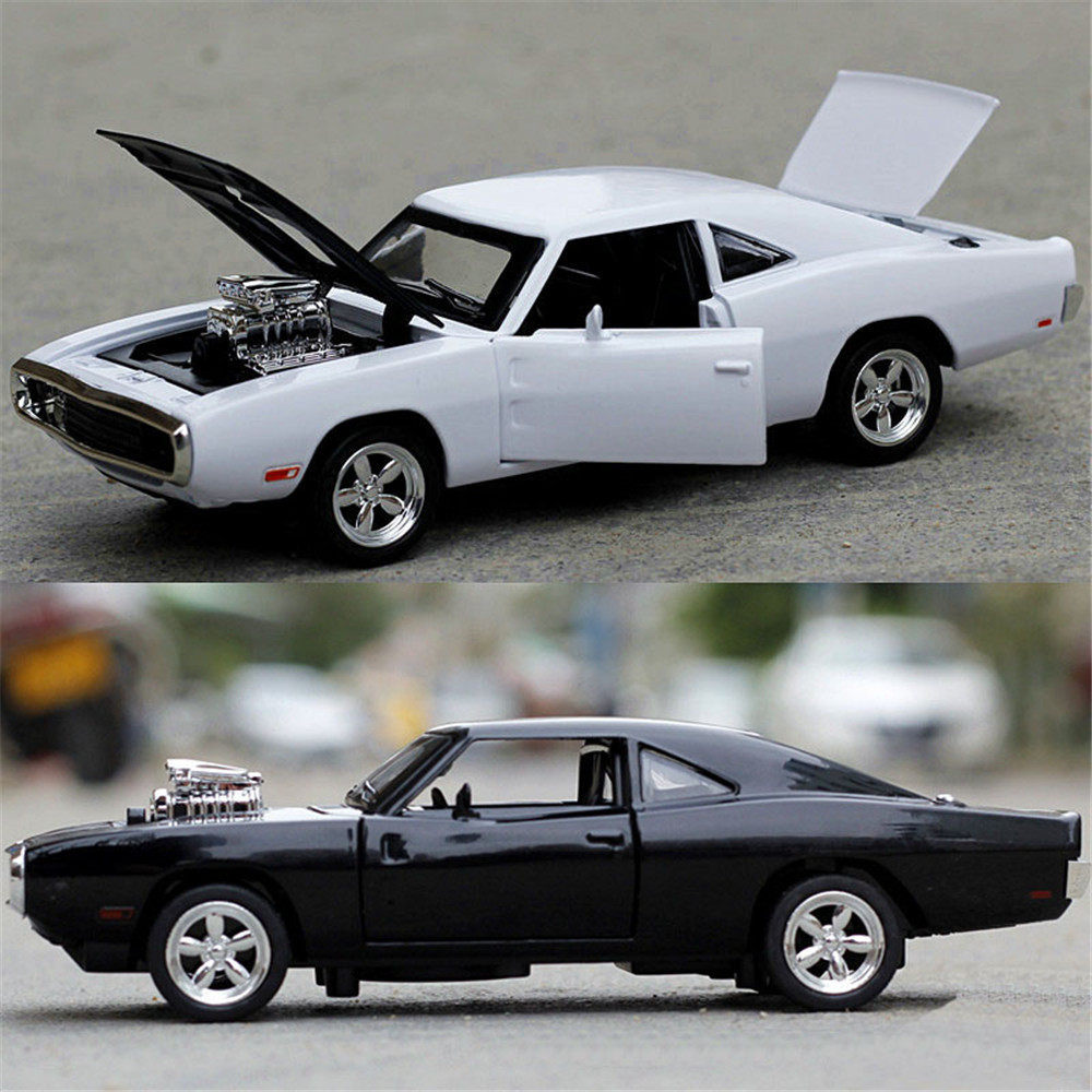 1/32 Fast&Furious Dodge Charger Car Model Diecast Alloy Horses Muscle Vehicle Models With Sound Lighting Toy Gift For Collection 4