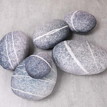 Sofa Pillow Soft Pebble Stone Pillow Simulated Sto