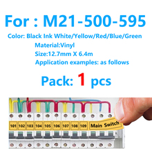 M21-500-595 Black on White Compatible for BMP21-PLUS IDPAL and LABPAL Label Printer High Adhesion Vinyl Film Label Tape