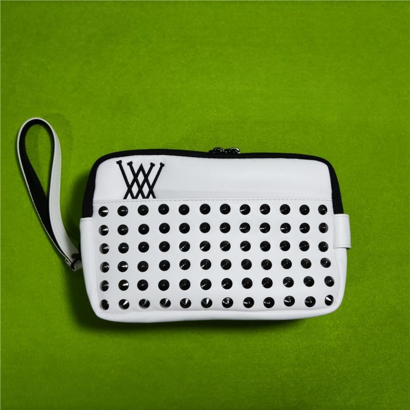 Golf Handbag  Mass Rivets Cool Fashion Design Portable Accessory Storage-Bag for Keys Cellphone Pouch 4