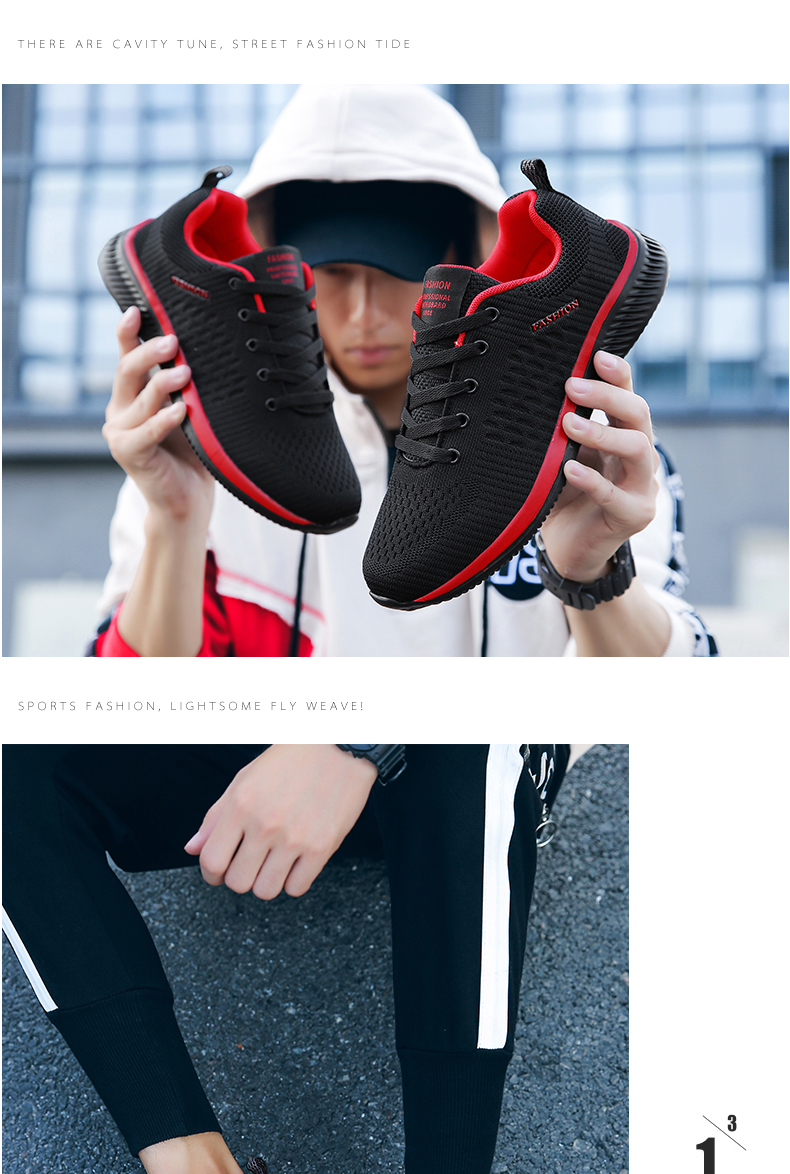Hc20c32f01e5046c6ad1fa669726a31e3F New Mesh Men Casual Shoes Lac-up Men Shoes Lightweight Comfortable Breathable Walking Sneakers Tenis masculino Zapatillas Hombre