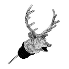 New Zinc Alloy Bar Tools Deer Head Wine Pourer High-End Bottle Stoppers Coolest Cork Aerators Silver Gold